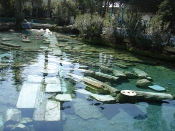 Take the waters in the ancient spa town of Pamukkale