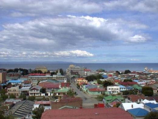 Punta Arenas with the Straits of Magellan beyond (used with permission