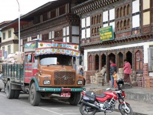 Explore the small town of Paro