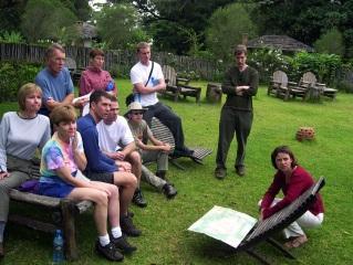 Participate in a pre-climb briefing