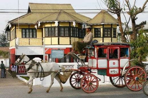 Pyin Oo Lwin is known for its colonial style buildings and horse carriages