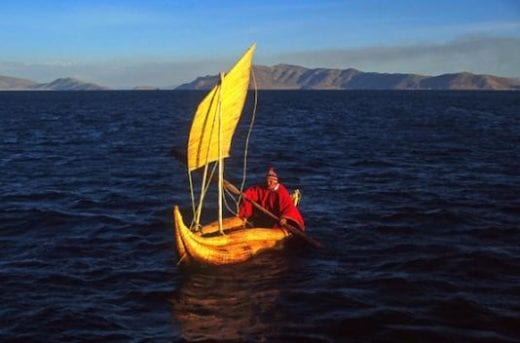 Reedboat at Lake Titicaca