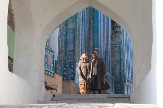 The people-watching in Samarkand is excellent (Photo by Robert Wilson)