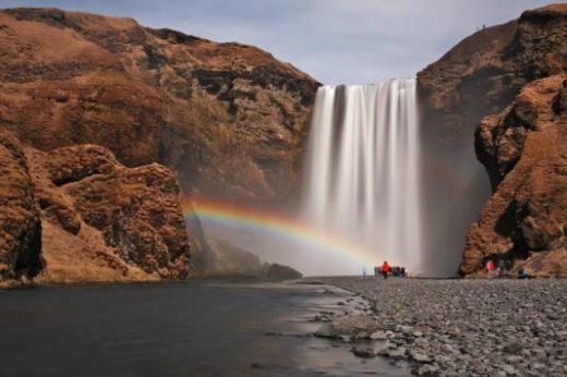 Skogafoss and a rainbow