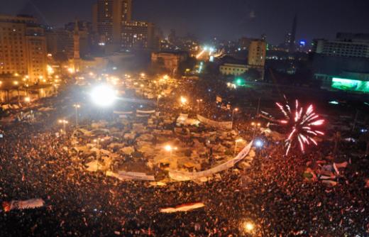 Tahrir Square on 11 February 2011 (photo by Jonathan Rashad)