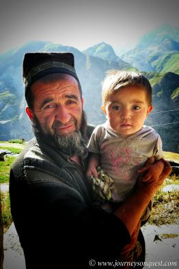 A Tajik grandfather and his grandson