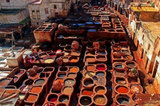 The tannery is an iconic sight in Fes