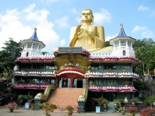 One of the many Buddhist temples in Sri Lanka