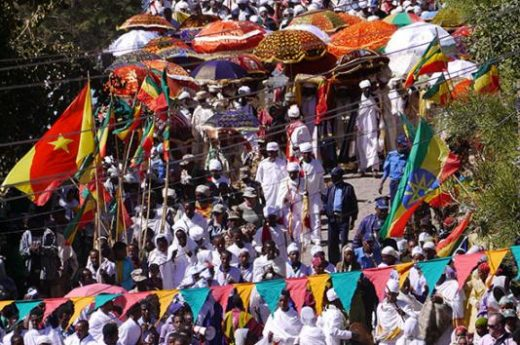 Witness the Timkat procession