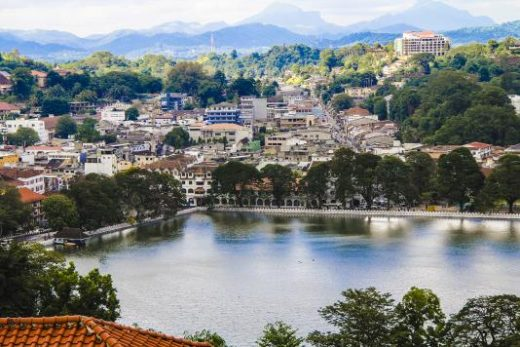 Kandy town from a viewpoint