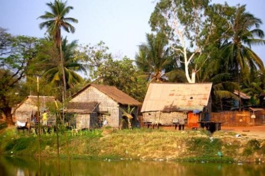 Visit villages like these in Cambodia