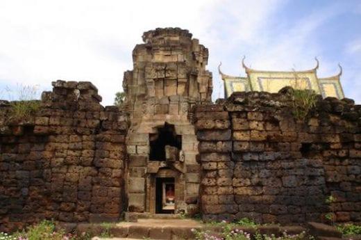 Explore the Wat Nokor Temple ruins