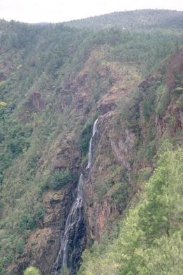 Marvel at mountainside waterfalls