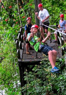 Have fun zip-lining through Arenal N.P.