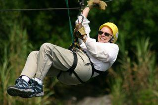 Zip-lining is a favorite in Costa Rica