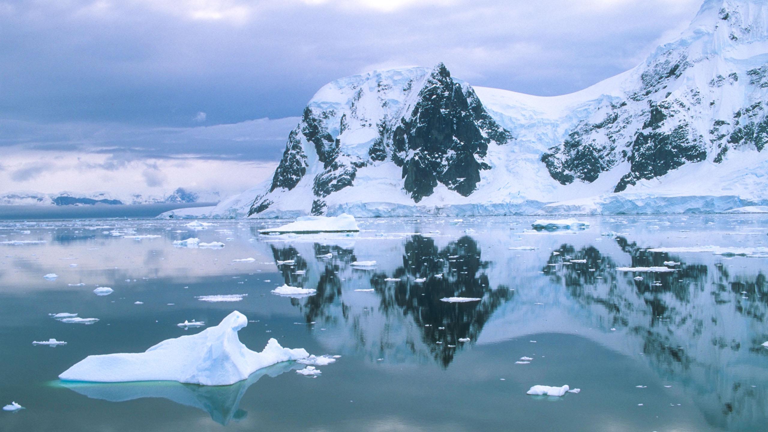 Antarctica landscape and ocean view