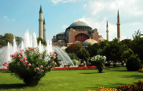 Wander around and explore Istanbul (view of Hagia Sophia)