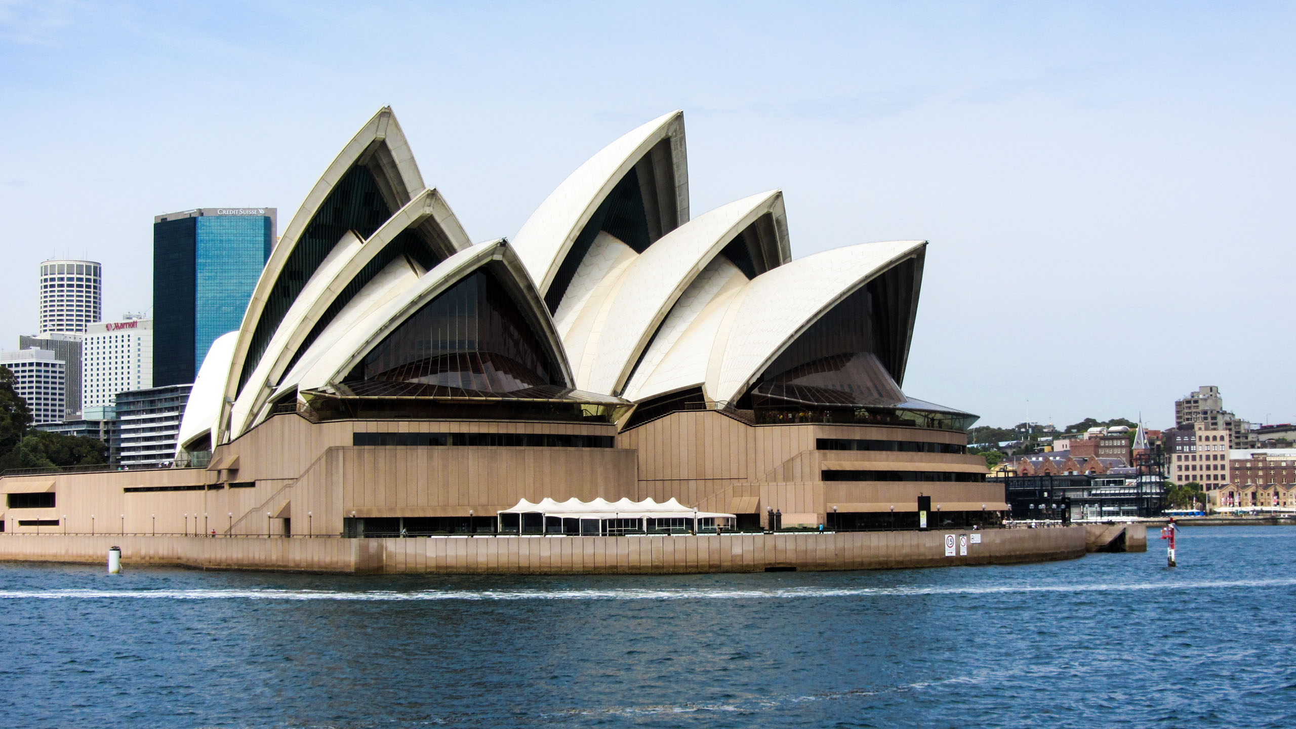 View of Sydney Opera House across water