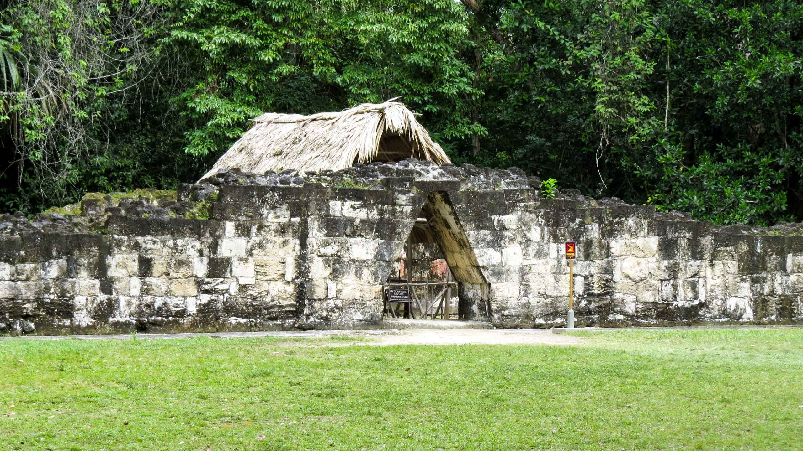 Belize temple ruins gate