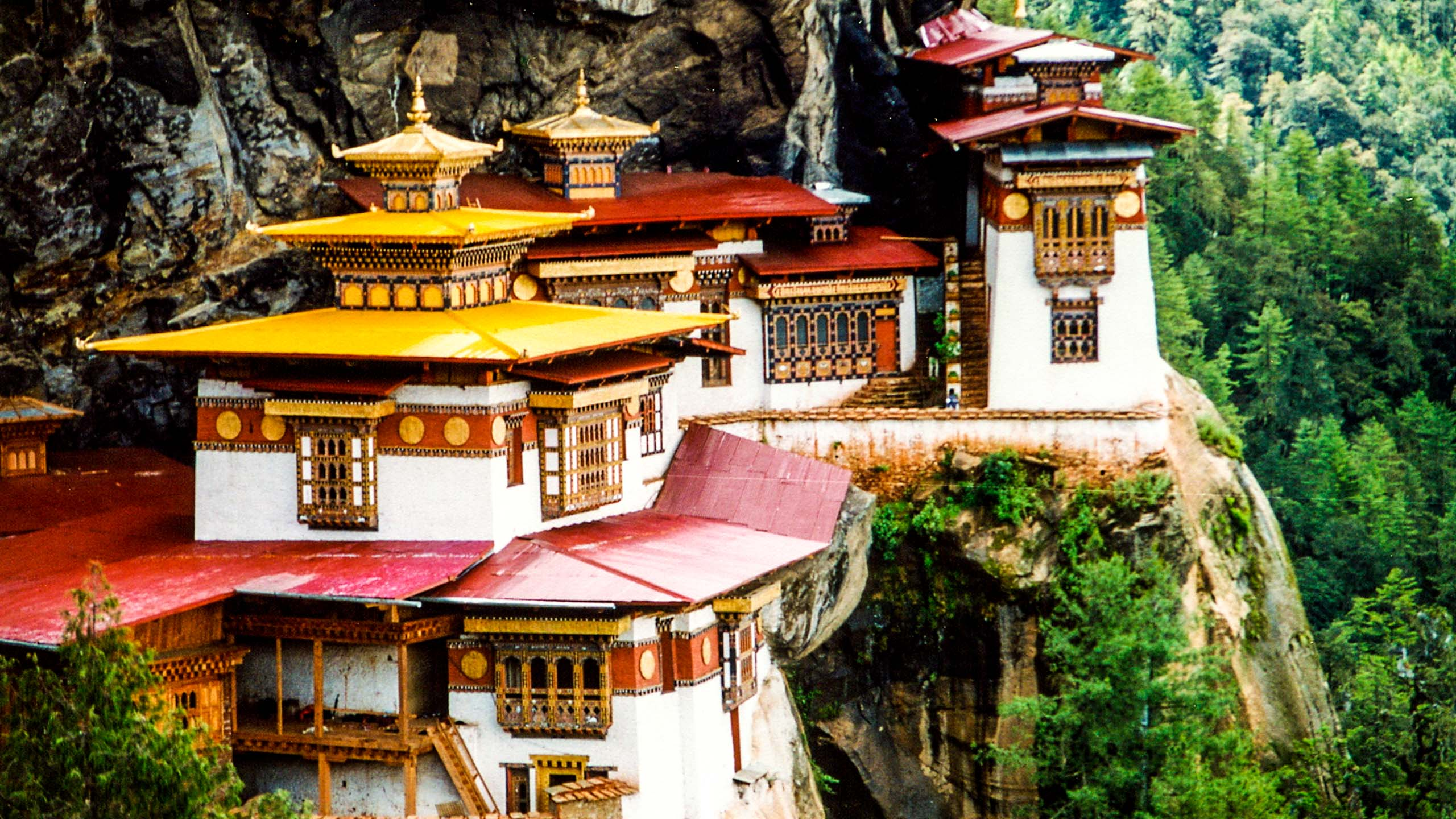 Bhutan monastery built into cliffside