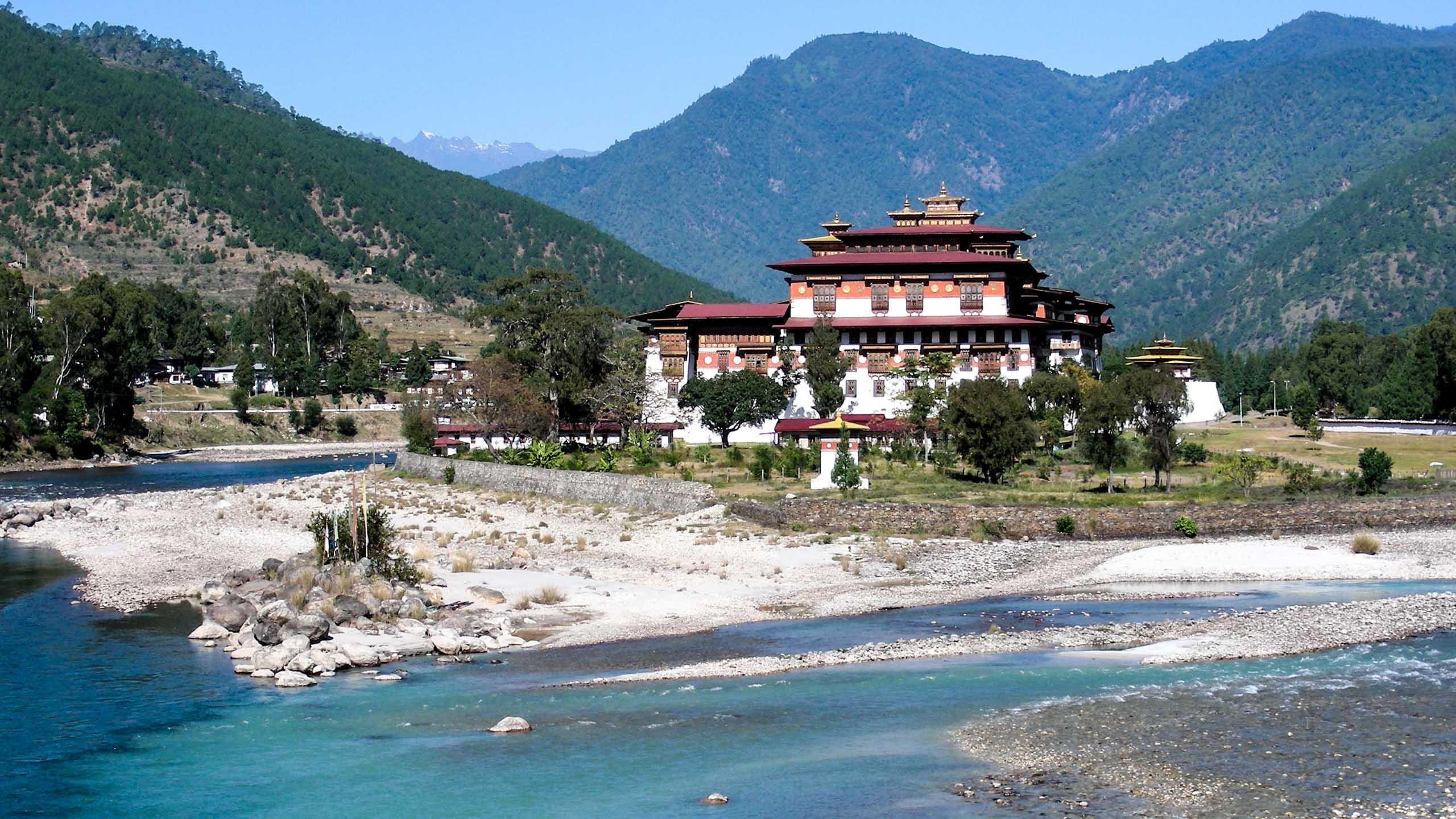 Phunakha Monastery in Bhutan