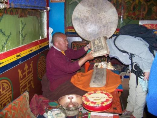 Blessing from a lama at Tengboche