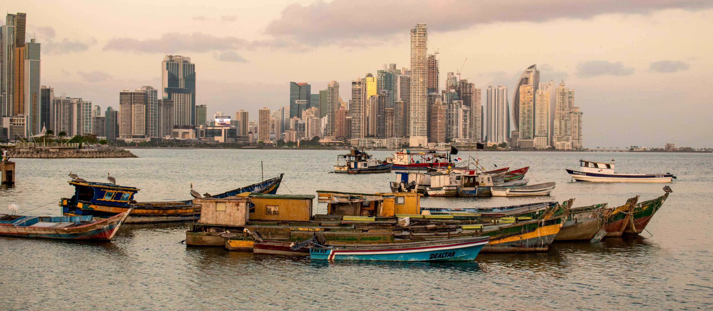 Boats on the waters near Panama City
