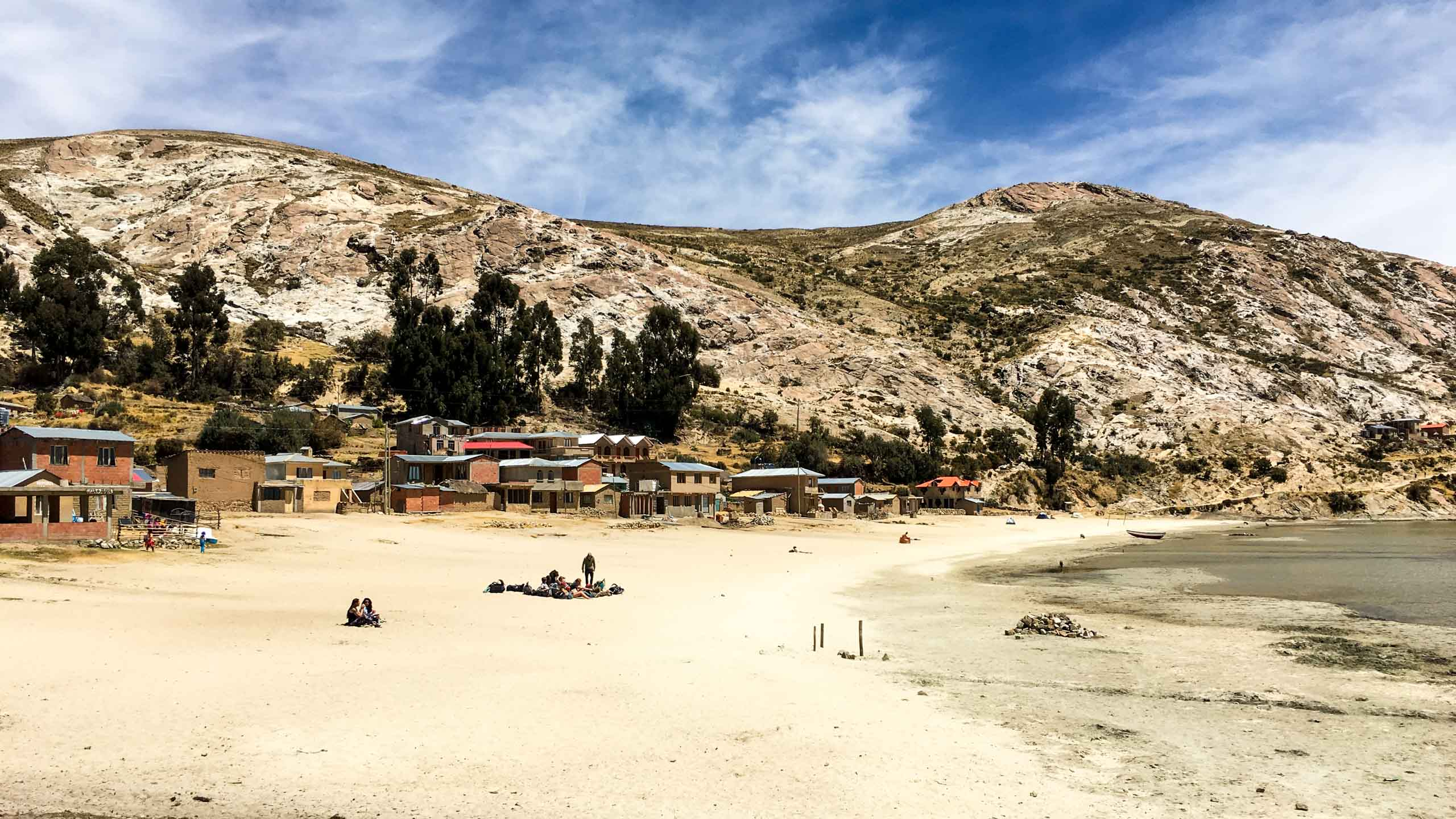 A beach in Bolivia