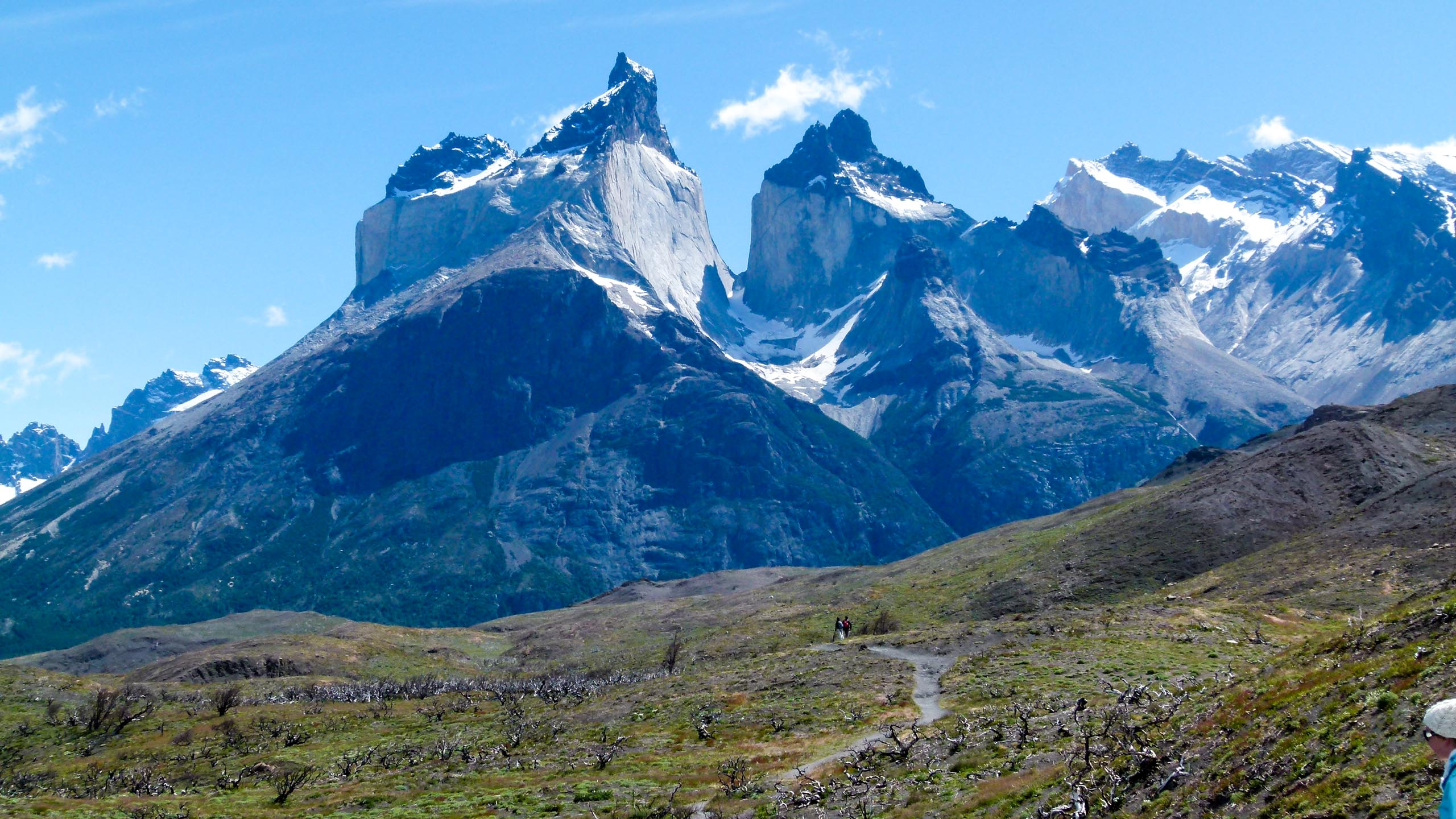 Spiky Patagonia mountain peaks in Chile