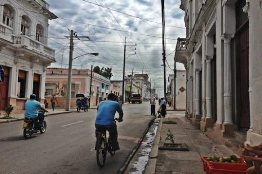 The streets of Cienfuegos