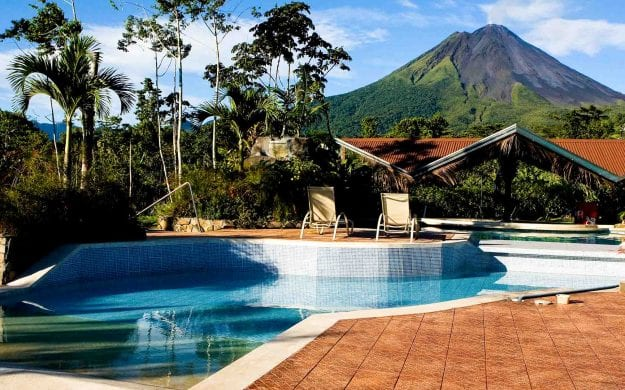 Resort pool in Costa Rica