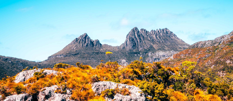 Long view of Cradle Mountain, Tasmania