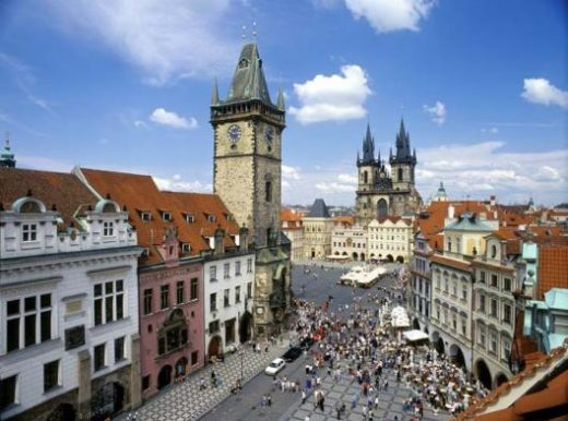 View of the center of Prague