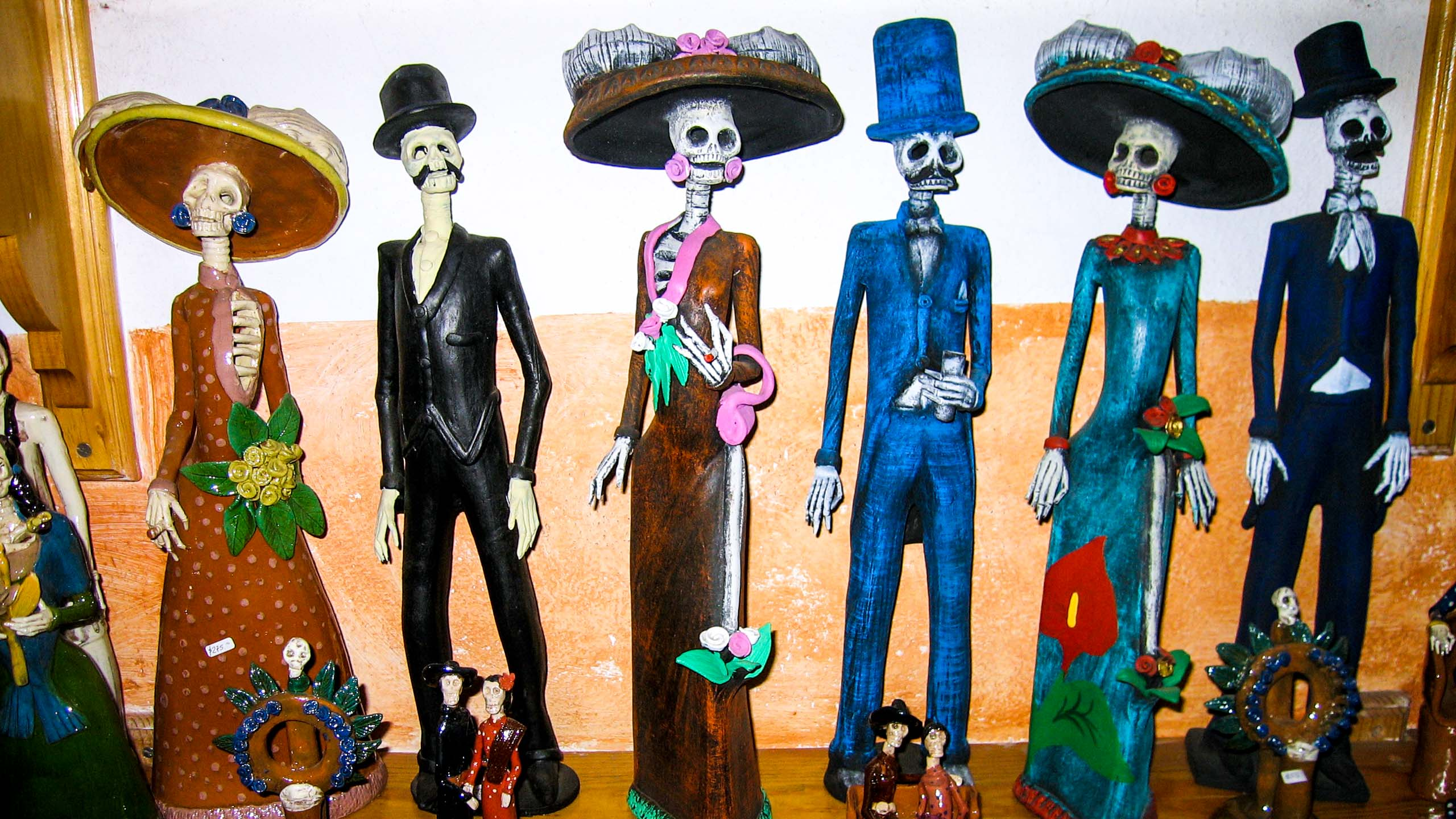 Day of the Dead dolls in Mexico