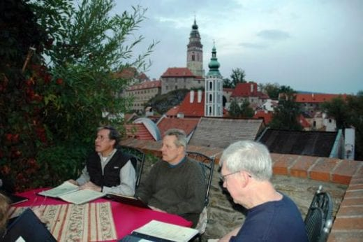 Enjoy dinner in Cesky Krumlov