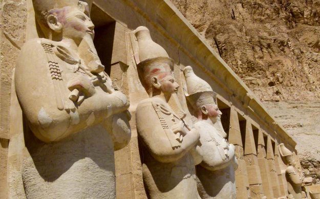 Pharaoh statues in Egypt