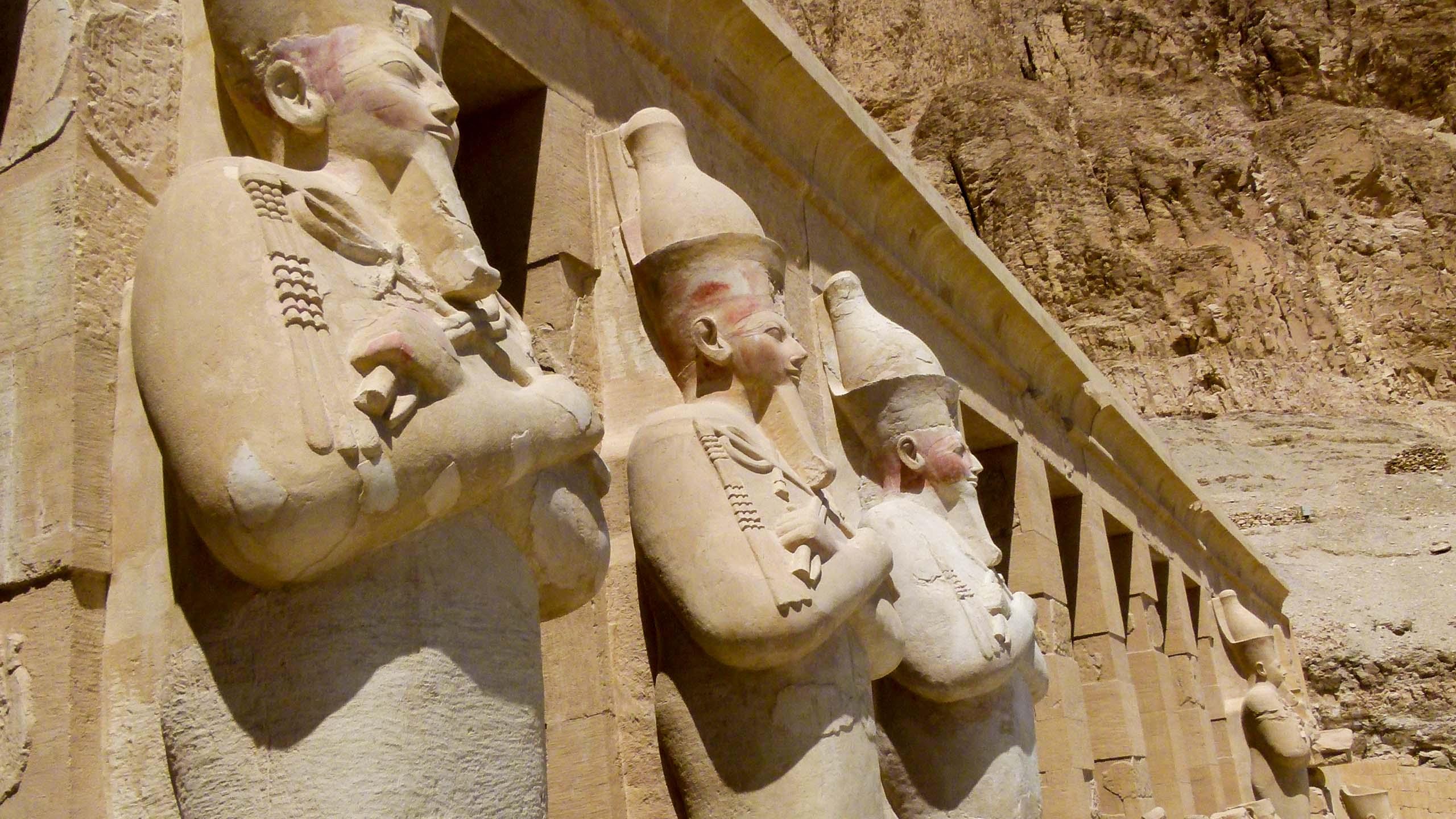 Pharaoh statues in Egypt