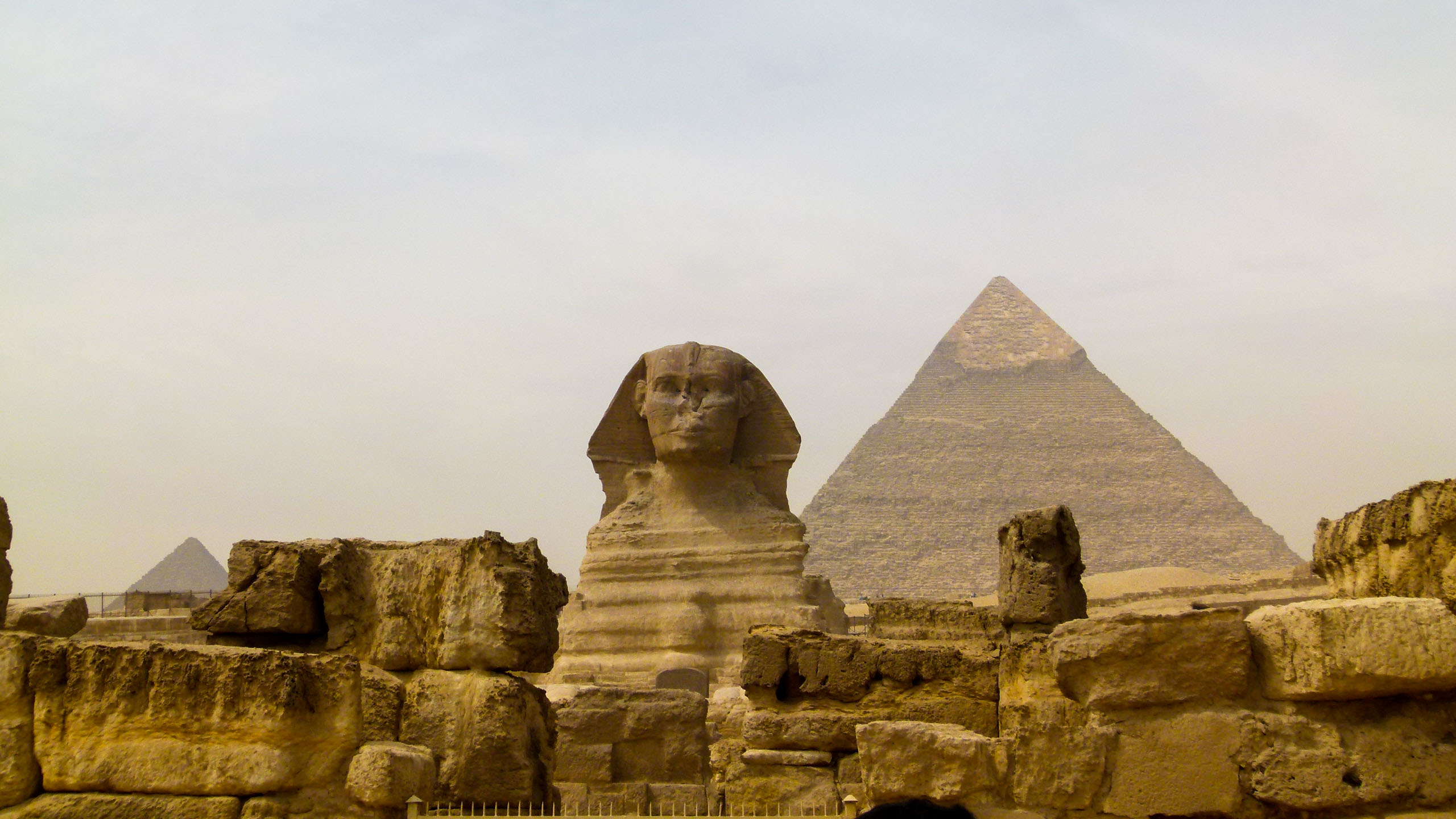 Sphinx and Pyramids of Giza, Egypt