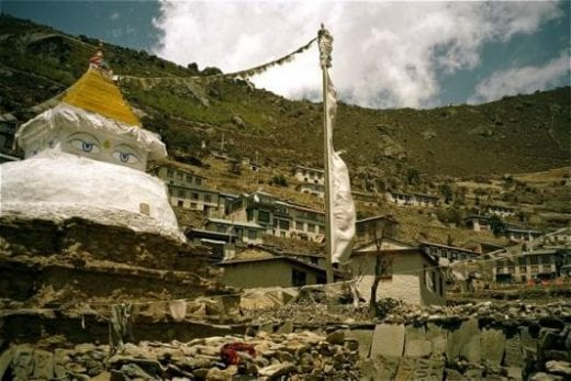 Namche is the largest Sherpa village