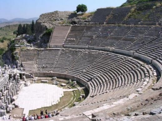 Imagine the rich past of Ephesus while climbing the theater steps