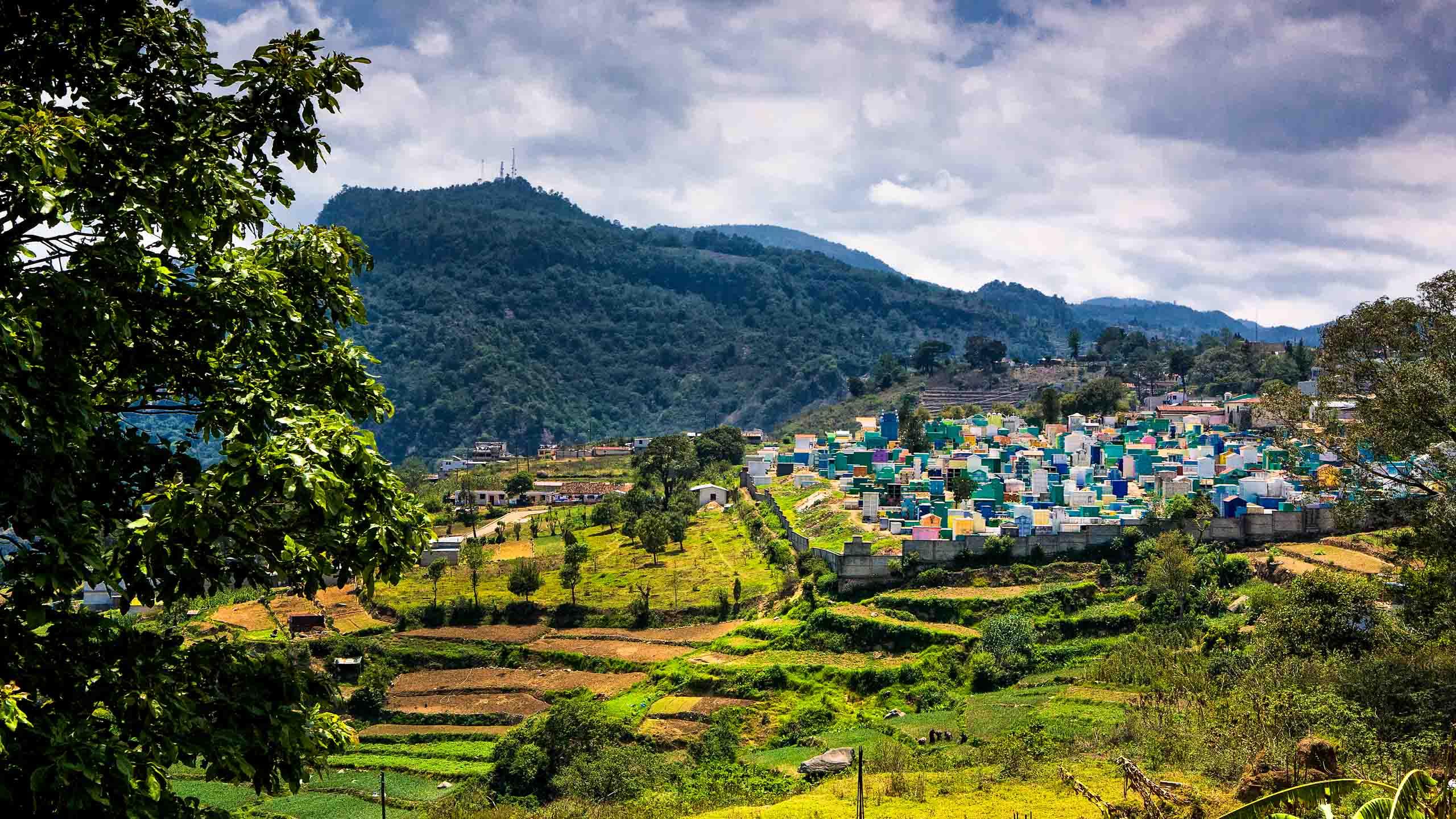 Hillside village in Guatemala
