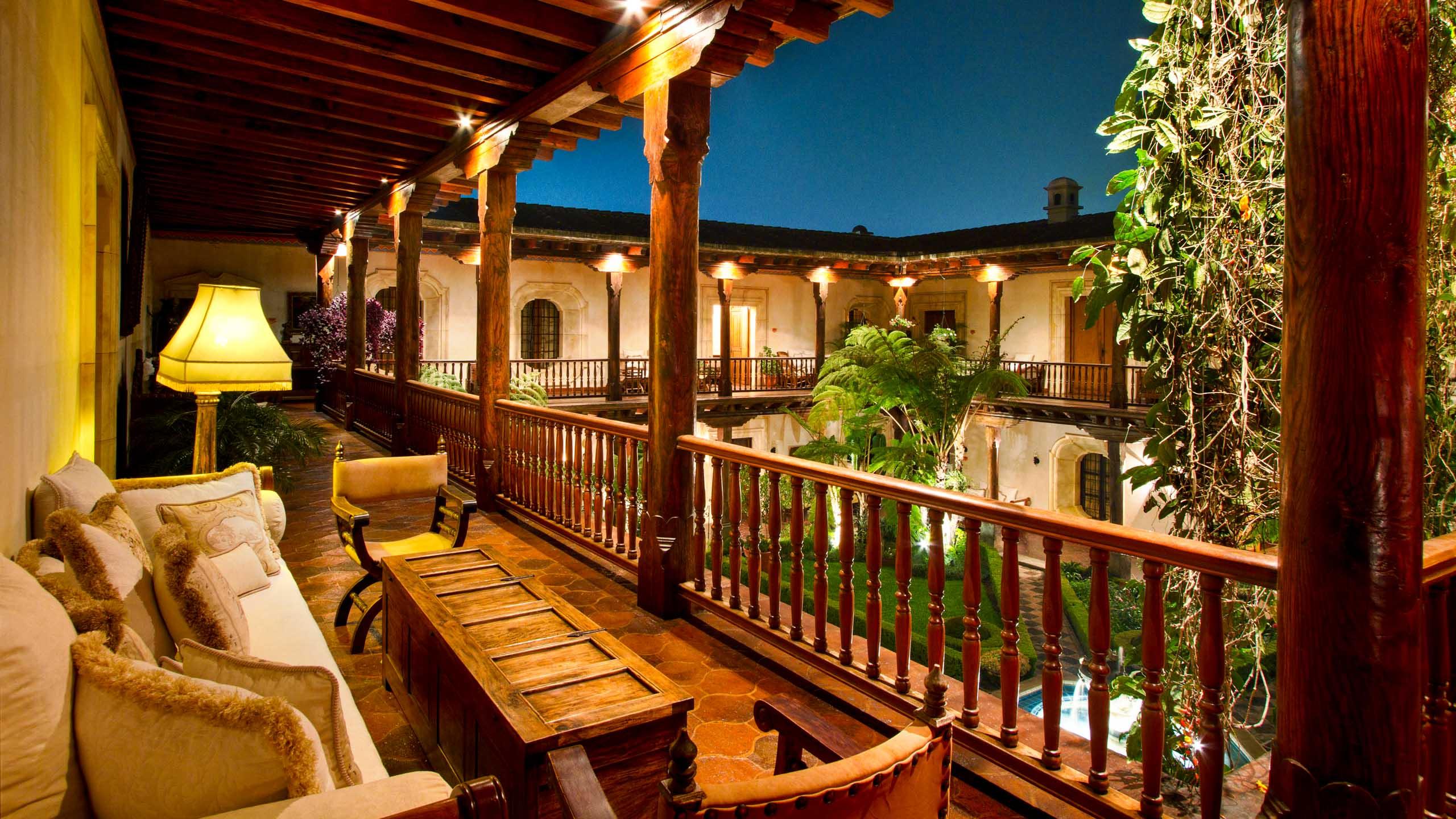 Guatemala hotel balcony