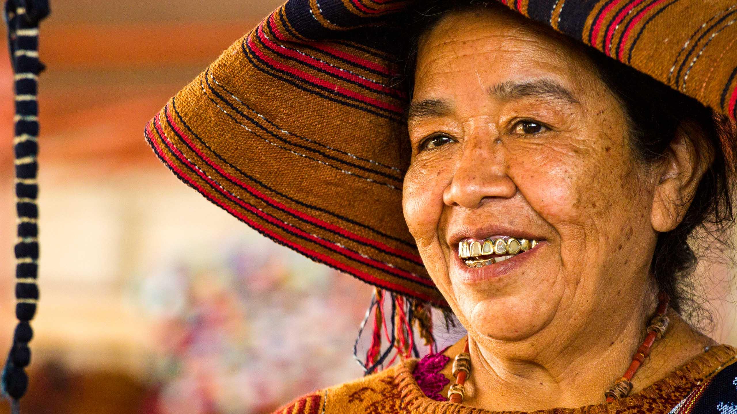 Smiling Guatemalan woman