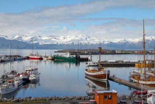 Charming Husavik port