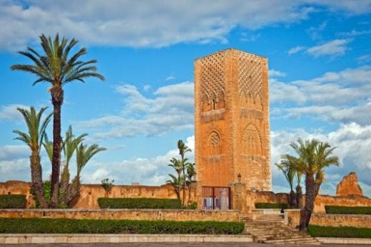 Hassan Tower in Rabat Morocco Africa