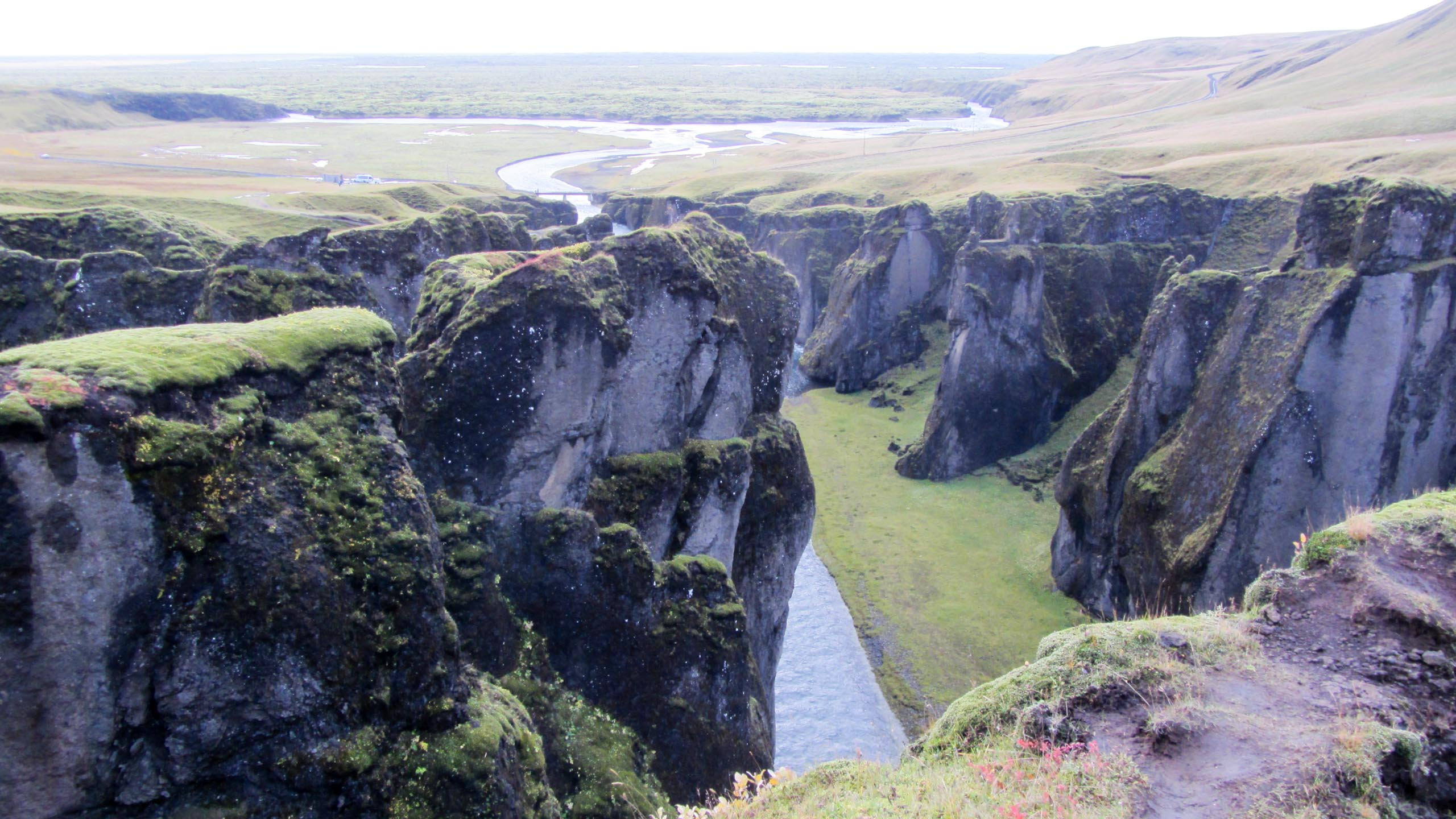 Fjord cuts through Iceland landscape