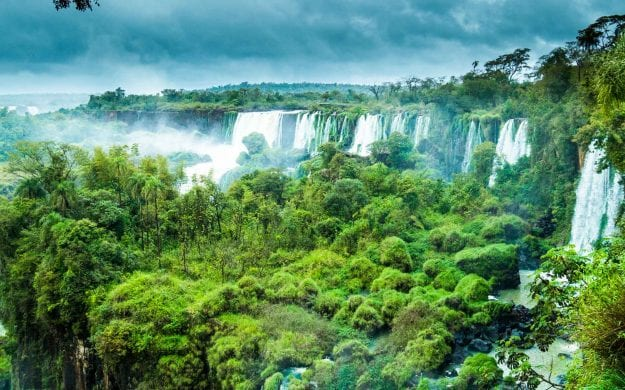 Clouds gathering over Iguazu Falls