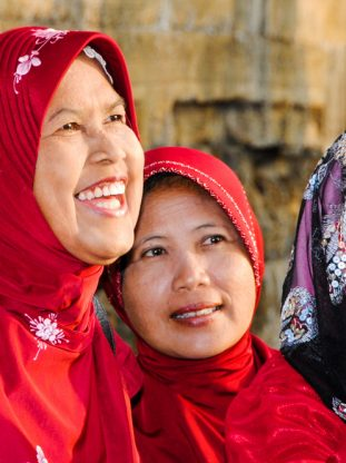 Group of smiling Indonesian women
