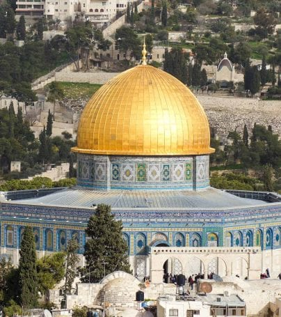 Golden dome in Jerusalem, Israel