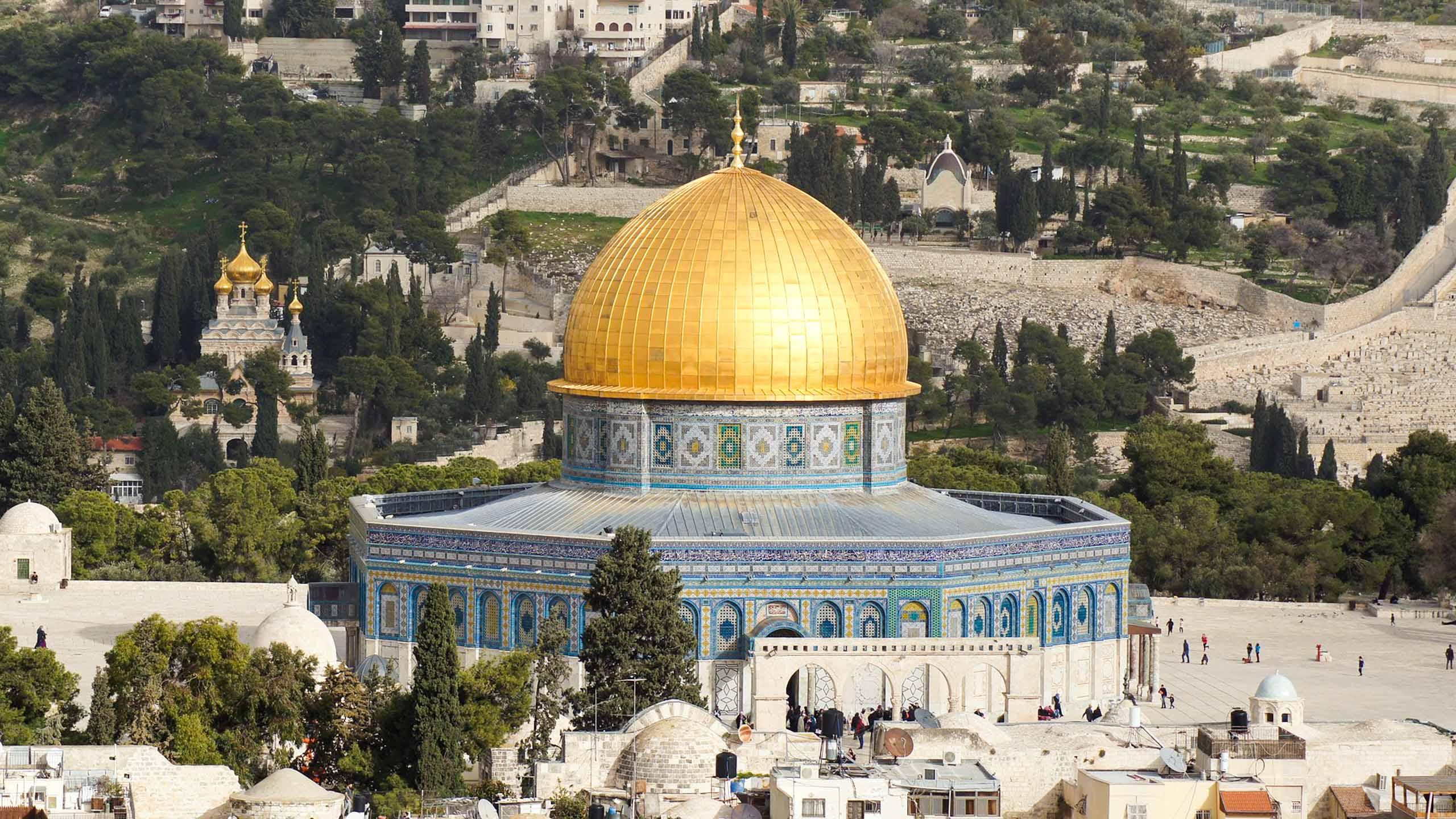 Golden dome in Jerusalem, Israel